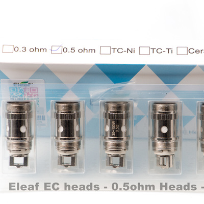 Eleaf EC Heads  - 0.5ohm - 5 Pack