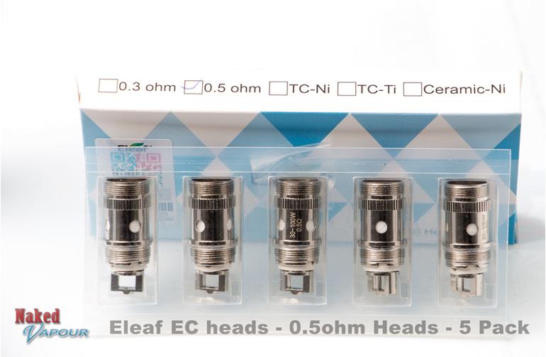 Eleaf EC heads - 0.5ohm Heads - 5 Pack