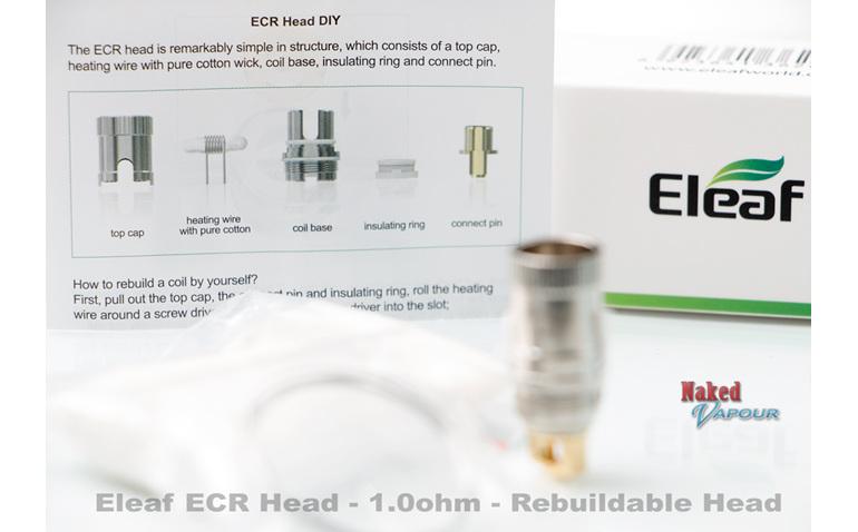 Eleaf ECR Head - 1.0ohm - Rebuildable Head
