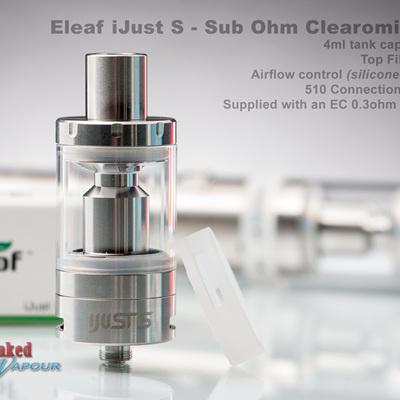 Eleaf iJust S - Sub Ohm Clearomizer- 4ml