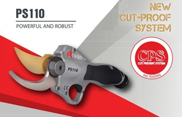 electric pruners with cut prevention system, powered by lithium batteries