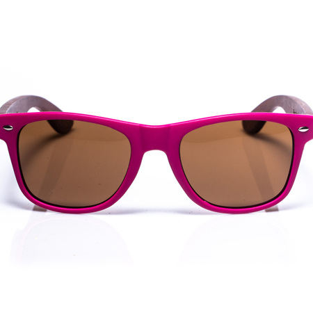 Electric Pukeko Wood Arm Sunglasses