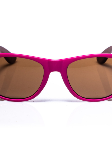 Electric Pukeko Wood Arm Sunglasses