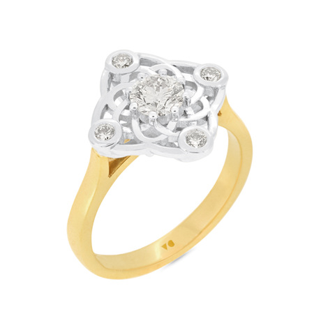 Elements: Diamond Cluster Ring
