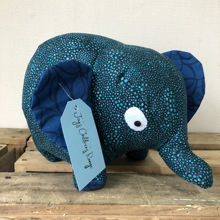 Elephant - Blue With Teal Dots