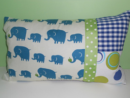 Elephant Cushion with Feather Inner
