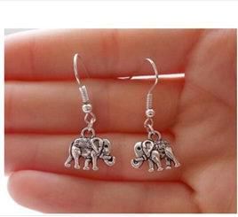 Elephant Drop Earrings