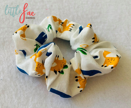 Elephant & Fox Scrunchie