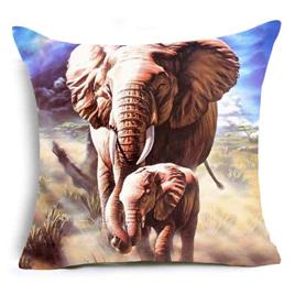 Elephant Mumma & Baby Cushion Cover