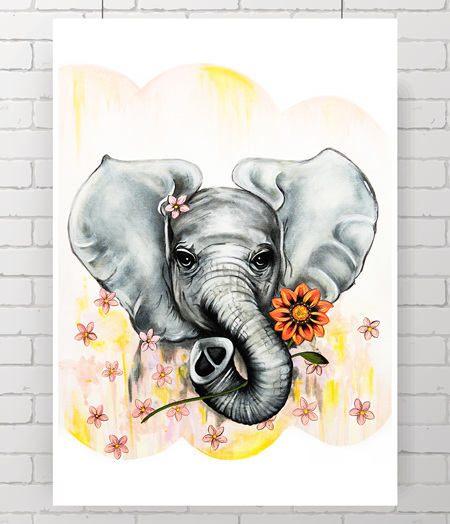 elephant - the original painting
