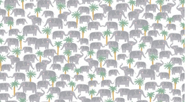 Elephant Trek White 1214