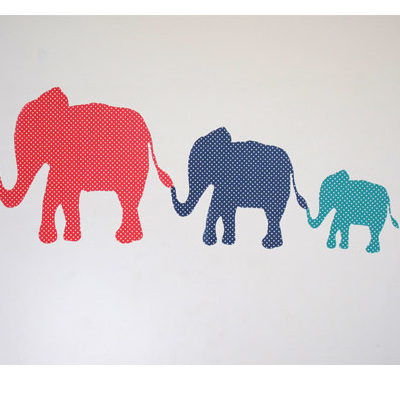 Dotty Elephants Mini Mural wall decal