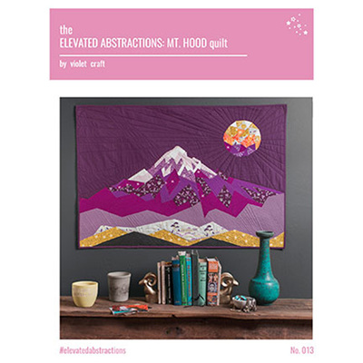 Elevated Abstractions: Mt Hood quilt