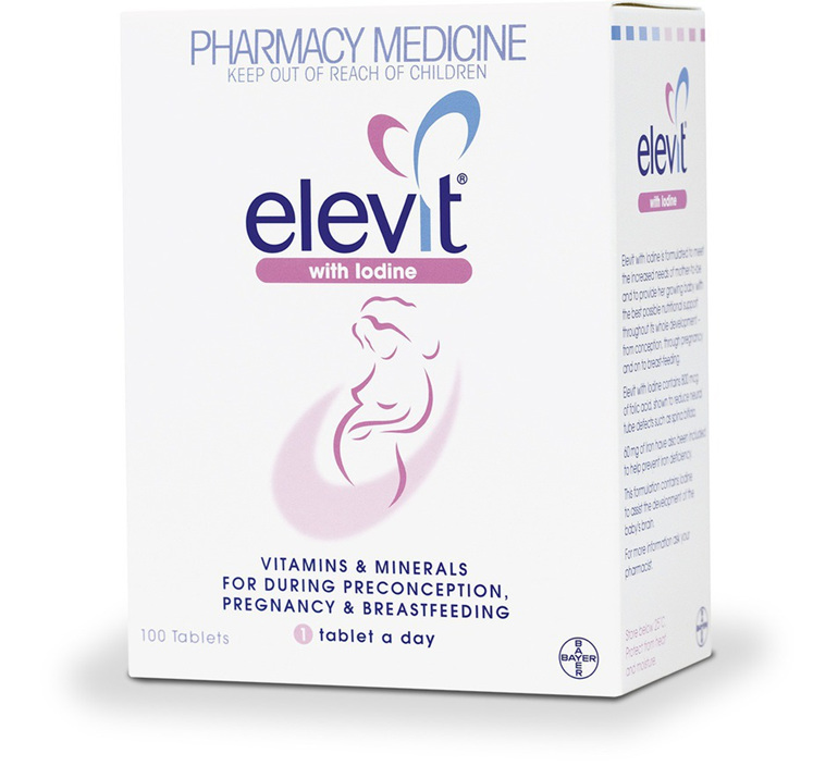 Elevit with Iodine Pregnancy Supplement 100