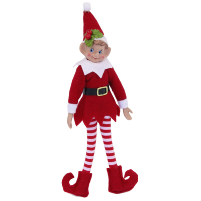 Elf - red - poseable - 30cm