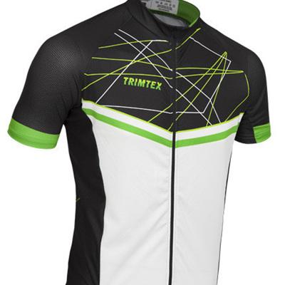 Elite Race Cycling Shirt Black/White/Green