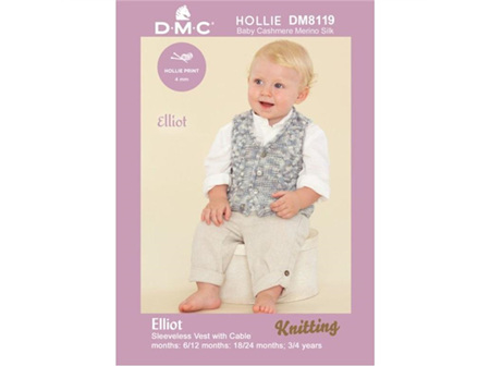 Elliot Vest with Cable pattern