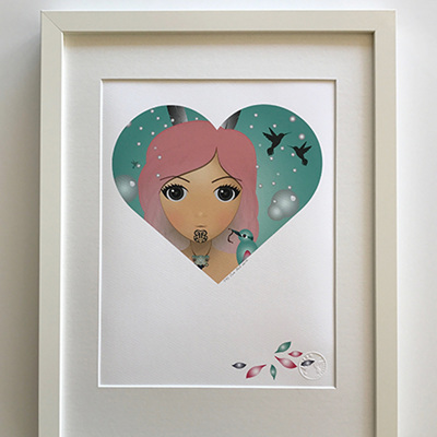 Ema Frost Heart Series Holi Framed