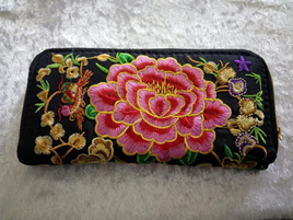 EMBROIDERY FLORAL WALLET CODE:EW1