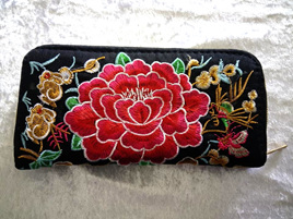 EMBROIDERY FLORAL WALLET CODE:EW3