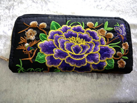 EMBROIDERY FLORAL WALLET CODE:EW4