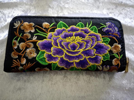 EMBROIDERY FLORAL WALLET CODE:EW2
