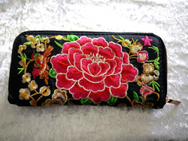 EMBROIDERY FLORAL WALLET CODE:EW5
