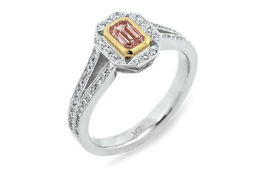 Emerald Cut Argyle Pink Diamond Ring