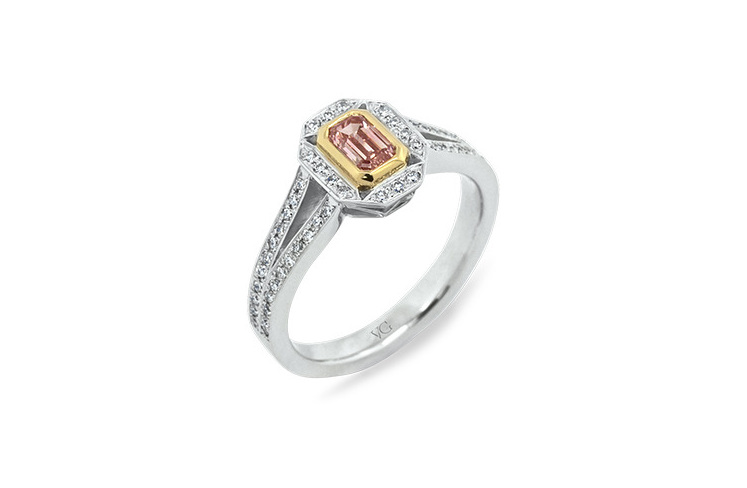 Pink Diamond Ring >> Emerald Cut Argyle Pink Diamond Ring