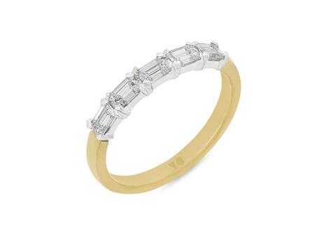 Emerald Cut Diamond Eternity Ring