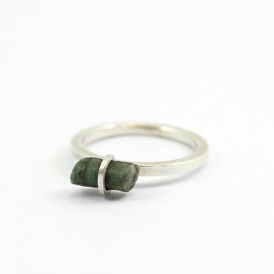 Emerald Hexagonal Baguette Ring