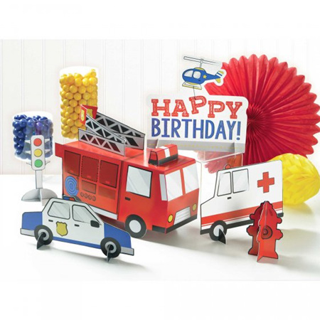 Emergency services table decorating kit - 6 pieces