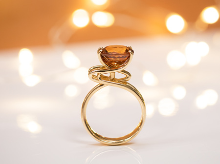 Emerging Through Your Surroundings - 'Emerge' Golden Zircon Ring