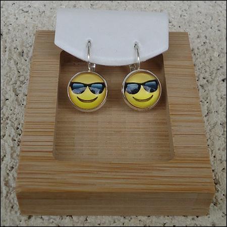 Emoji Glass Dome Earrings