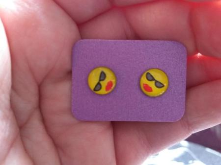Emoji Stud Resin Earrings - E1