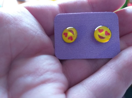 Emoji Stud Resin Earrings - E2
