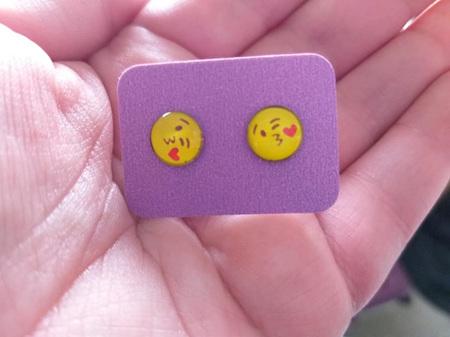 Emoji Stud Resin Earrings - E3