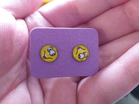 Emoji Stud Resin Earrings - E4