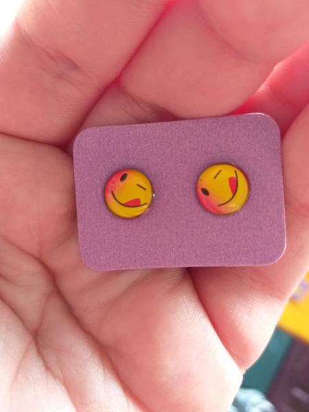 Emoji Stud Resin Earrings - E5