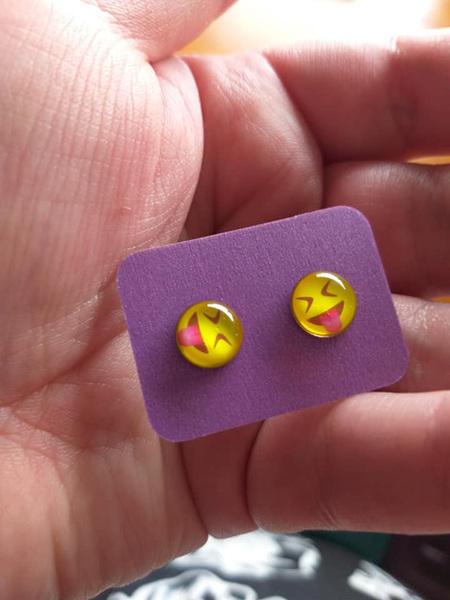 Emoji Stud Resin Earrings - E7