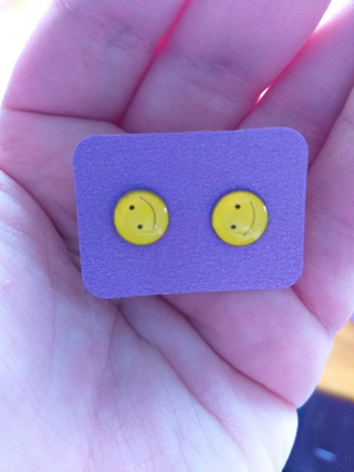 Emoji Stud Resin Earrings - E8