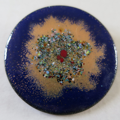 Enamel brooches