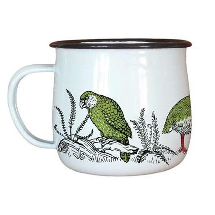 Enamel Cup - Birds
