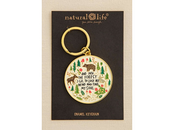 Enamel Keychain-Into The Forest