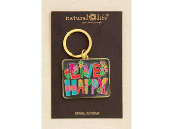 Enamel Keychain-Live Happy