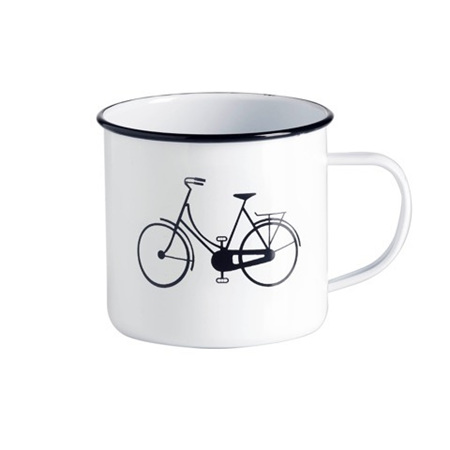 Enamel Mug Ka Pai Kiwi - Bike