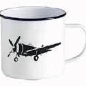 Enamel Mug Ka Pai Kiwi - Plane