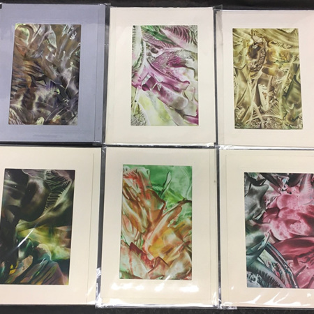 Encaustic (Wax) Cards - Blank Inside - Larger Size
