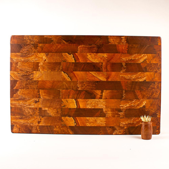 End Grain Board Heart Rimu