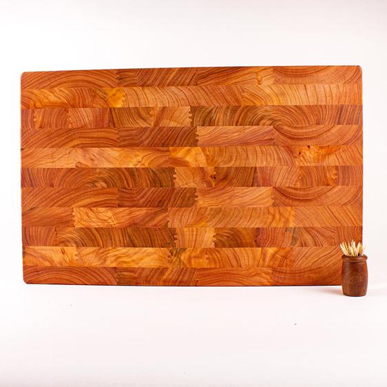 end grain board - macrocarpa